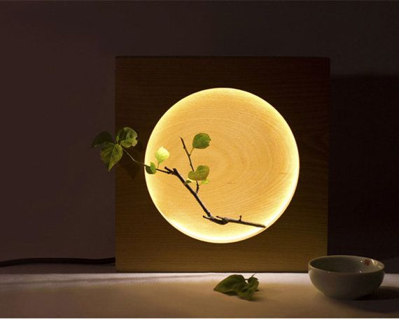 The Wooden Full Moon Lamp, Creative Lamp ,Full Moon Nightlight,Home Decoration,Ambient Light,Eco-Friendly LED Nightlight