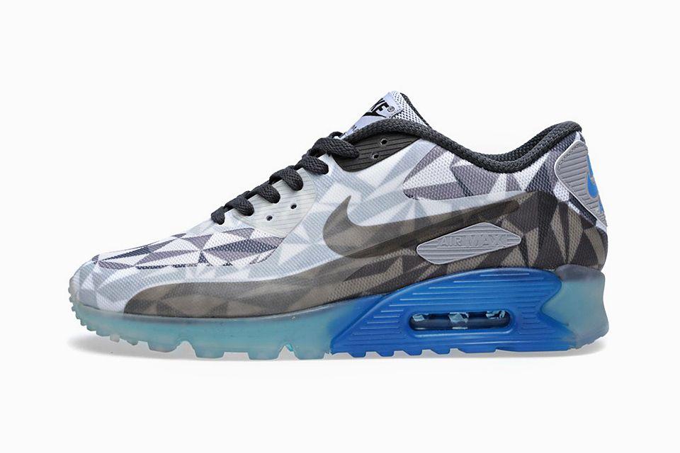 Where to Buy Nike Air Max 90 Ice Mens Blue Black Grey