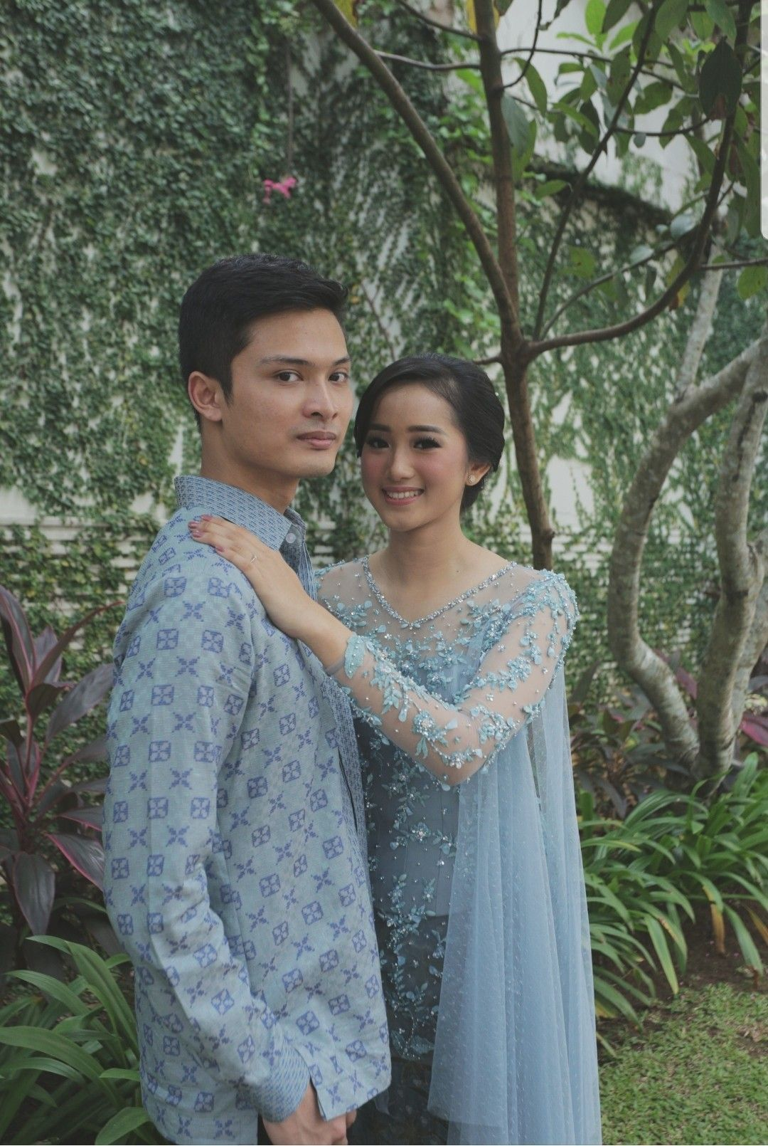 Photo of Dusty blue kebaya for Sheila and Dirga's engagement