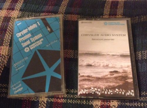 Chrysler Sound Systems Stereo Cassette Tapes 2 Dolby
