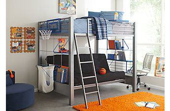 Build A Bunk Gray 4 Pc Full Futon Loft Bed