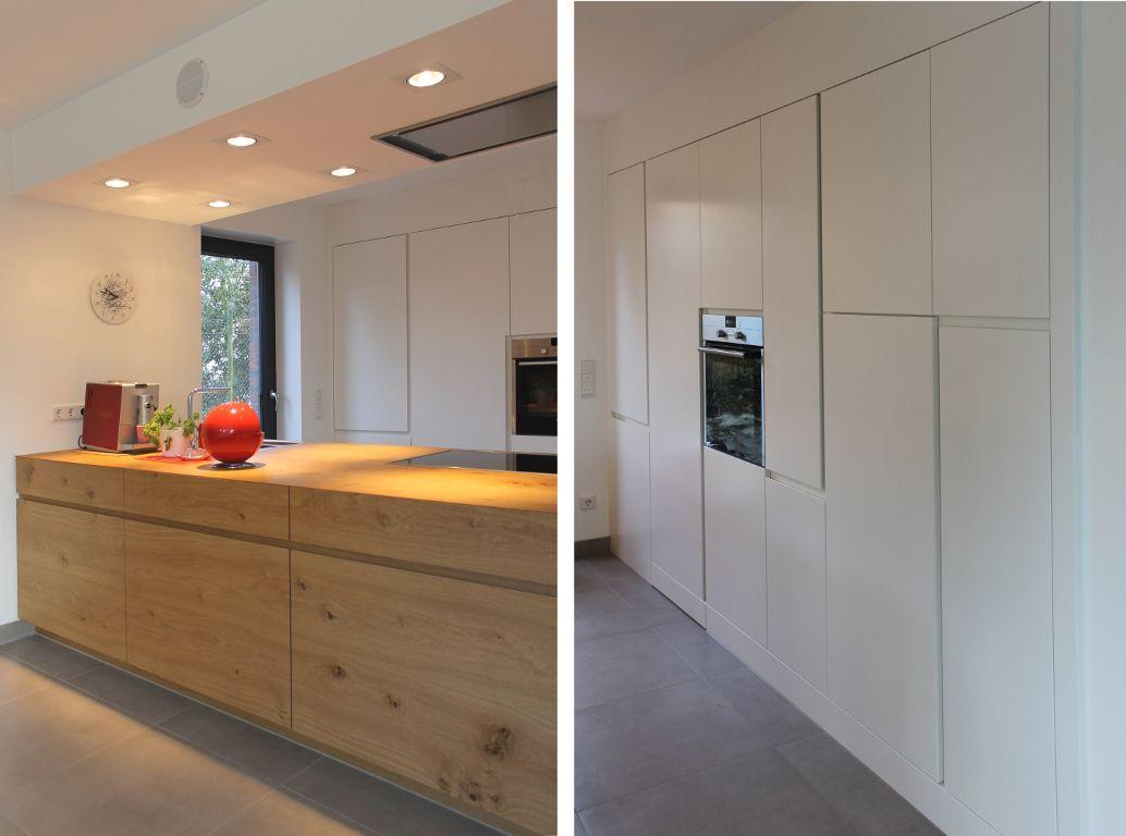 Neues Haus auf schmalem Grundstück | Pinterest | Kücheninsel, Eiche ...