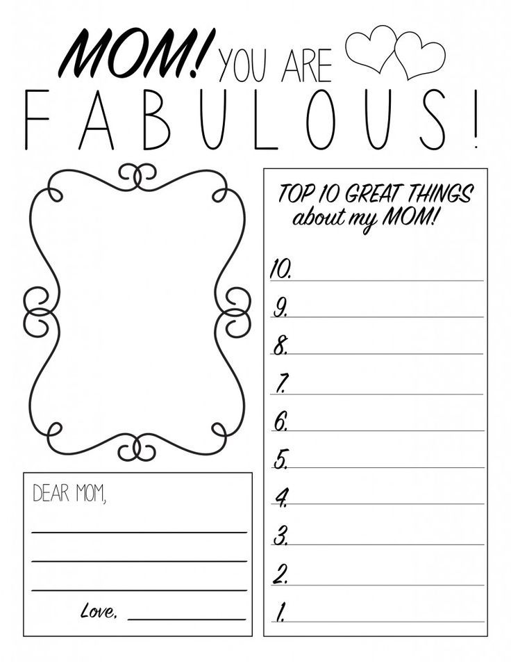 Motheru0027s Day Printable Worksheet Printables Pinterest - printable worksheet