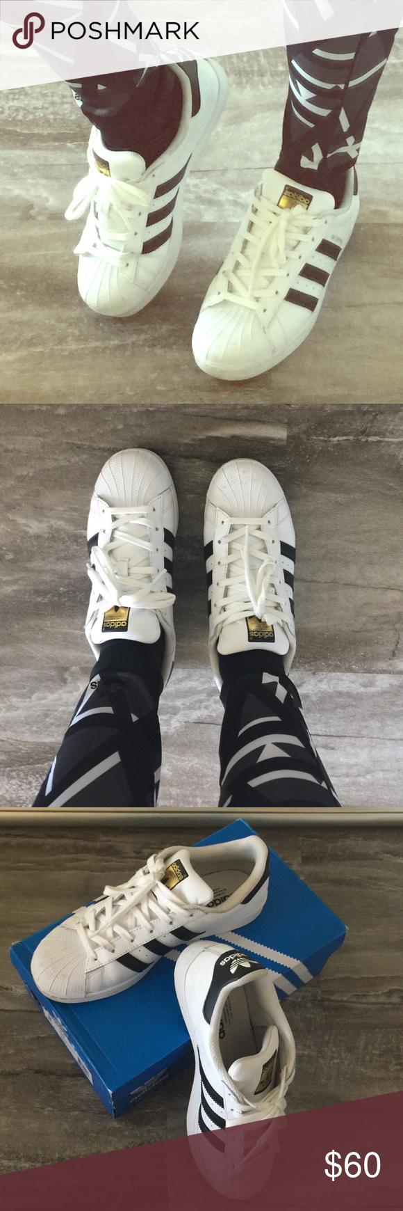 Adidas superstar w numero 9 portava due volte grande scarpa in ottime condizioni