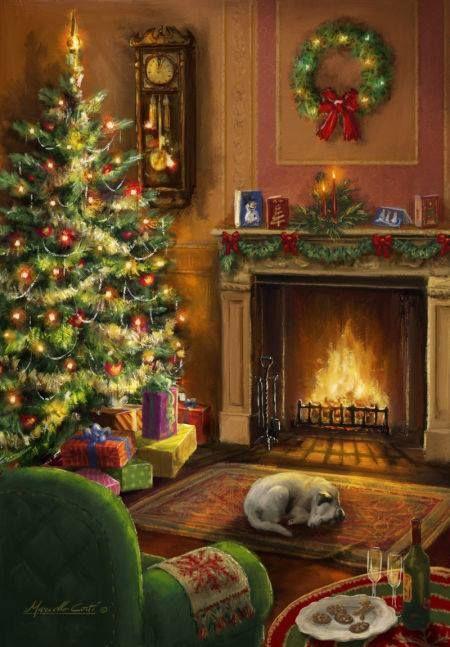 Weihnachtsbilder Kamin.Christmas At Home Christmas Cards Christmas Interiors Christmas