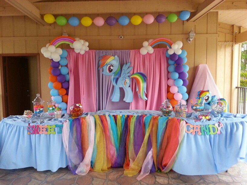 My Little Pony Party Chuly Decorations Cumplea 241 Os