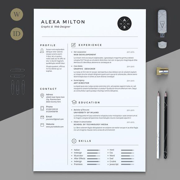 Pages Templates Resume 2 Pages Resume  Pinterest  Template Cv Template And Cover Letter .