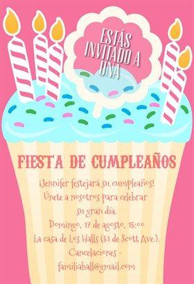 Invitaciones De Cumpleaños Para Imprimir Gratis Y