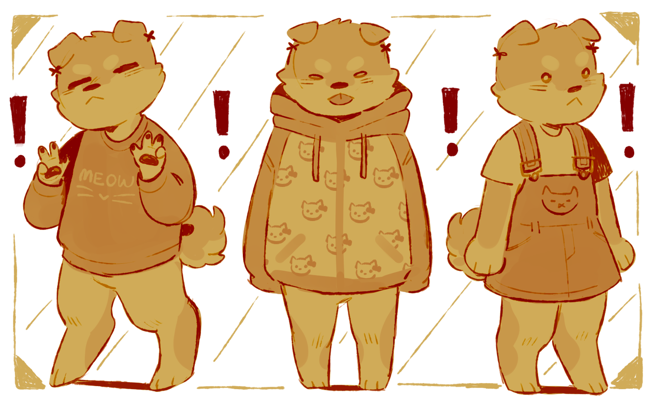 Cryptidsp00n Local Dog Wears Cat Related Clothing Furry Art Character Design Cute Drawings