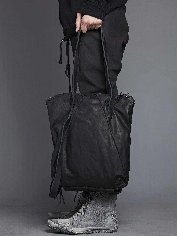 89391ce717e Boris Bidjan Saberi - Cow Leather Convertible Velcro Lined Tote Bag ...