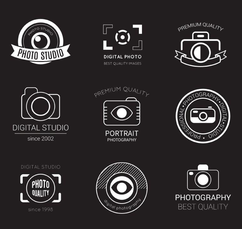 9 Photography Studio Logo Design Vector Material Nine Photography Studio Logo D Ai Download Free Vectors Psd Retro Photography Photography Logos Retro Logos
