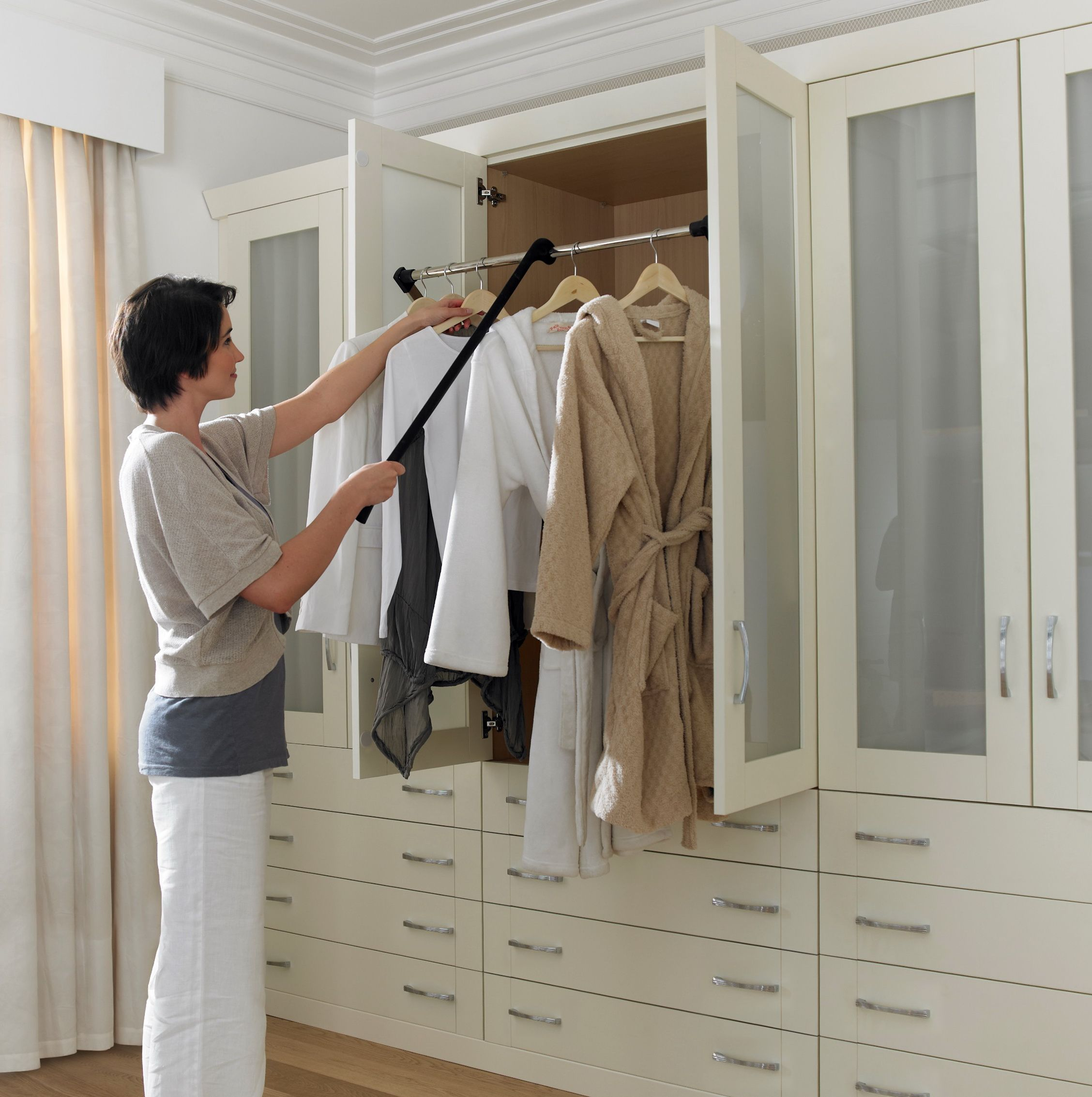 Make Your Clothes Come To You With A Pull Down Closet Rod Closet Rod Closet Rods Rev A Shelf