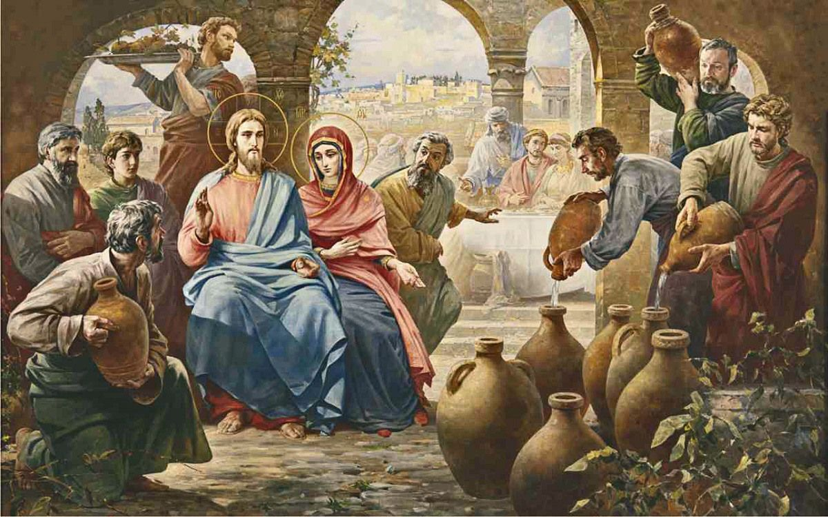 Wedding Feast At Cana.Vasili Nesterenko The Marriage Feast At Cana In Galilee 2001 The
