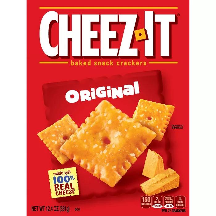 Cheez It Original Baked Snack Crackers 12 4oz No Bake Snacks Cracker Snacks Cheez It
