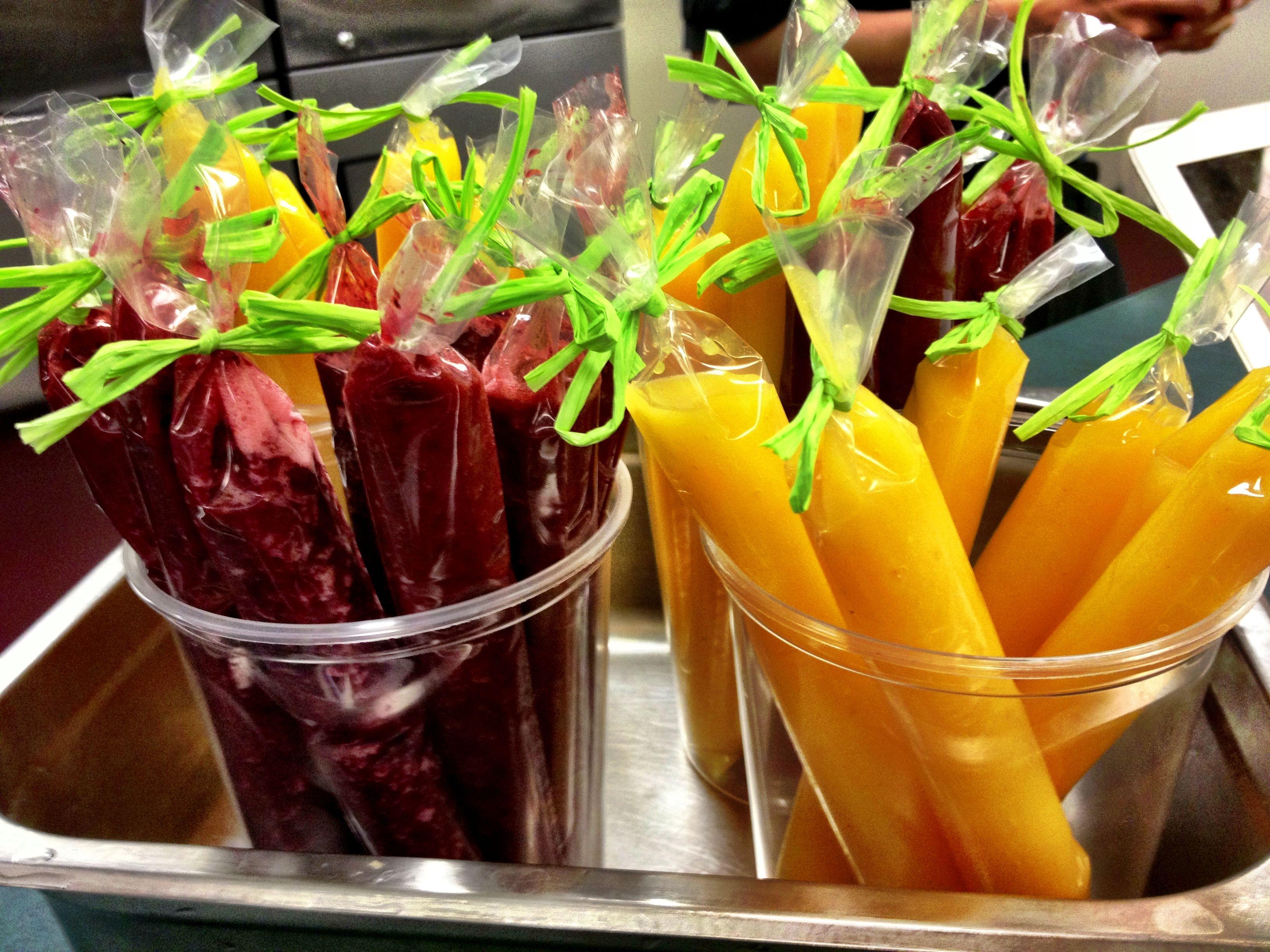 Fruit Sorbet Popsicles! #catering #food #charlotte #foodie
