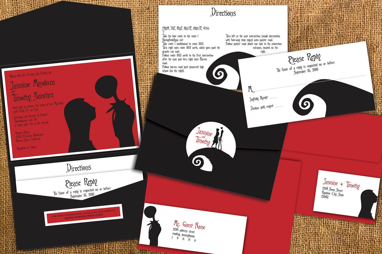 Nightmare Before Christmas Inspired Wedding Invitation | If I ever ...