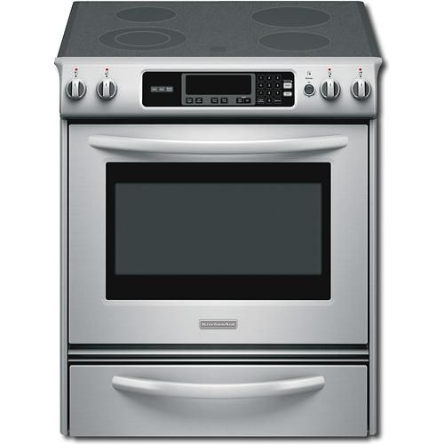 Best Buy Kitchenaid Architect Series Ii 30 Self Cleaning Slide In Electric Range Stainless Steel Kesk901sss Kitchen Aid Slide In Range Electric Stove