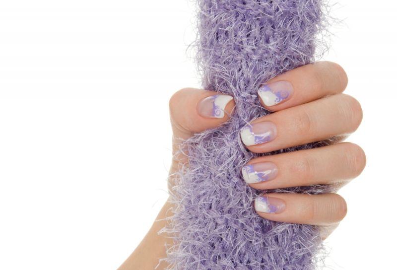 Purple Manicure Designs New Season French Manicure Nail