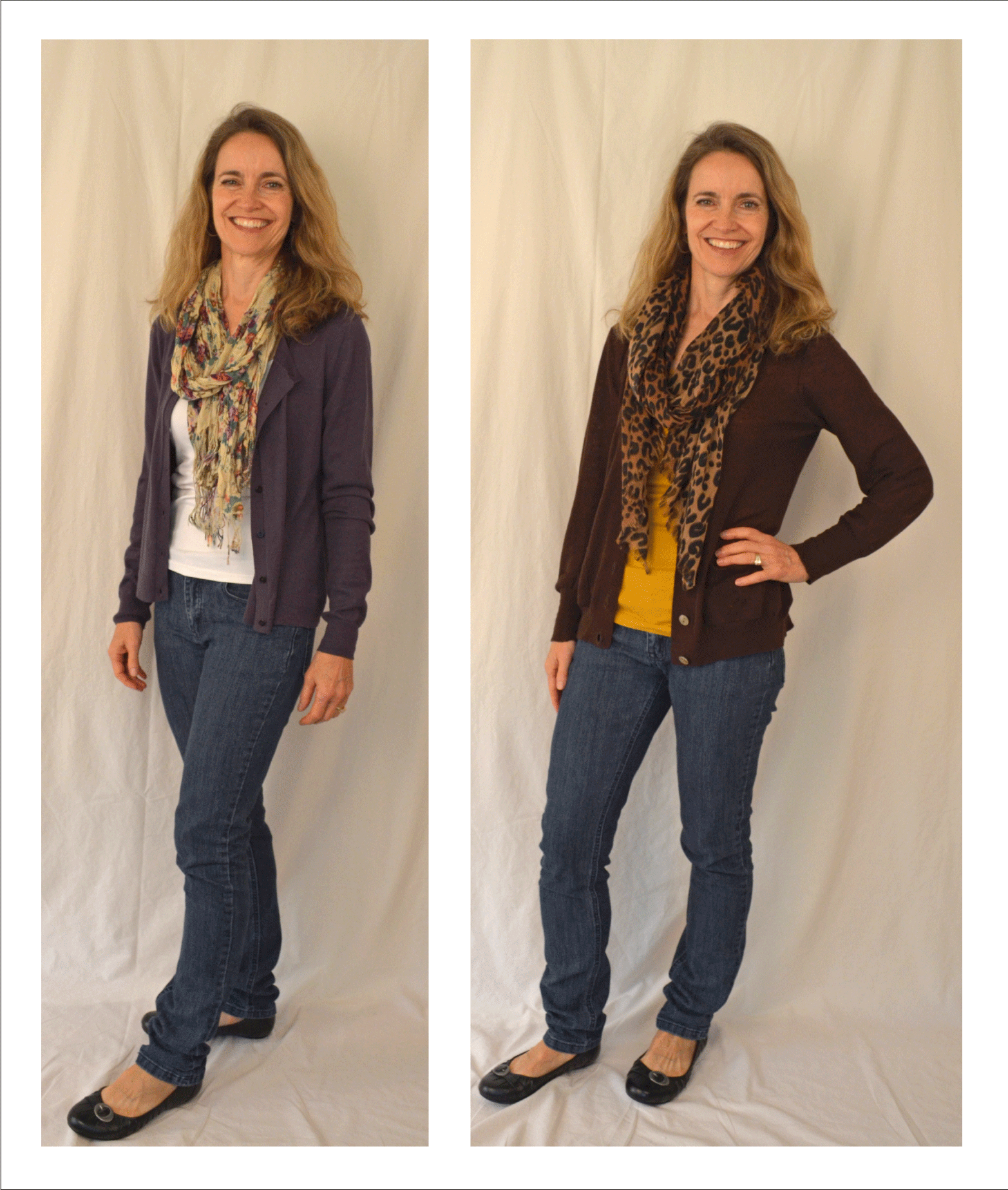GAP sheer back cardigan, Forever 21 scarf, Banana Republic ...