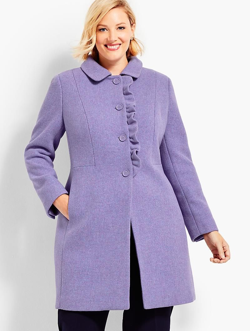 Albury Wool Ruffle Coat Talbots Clothes Clothes For Women Apparel [ 1057 x 800 Pixel ]