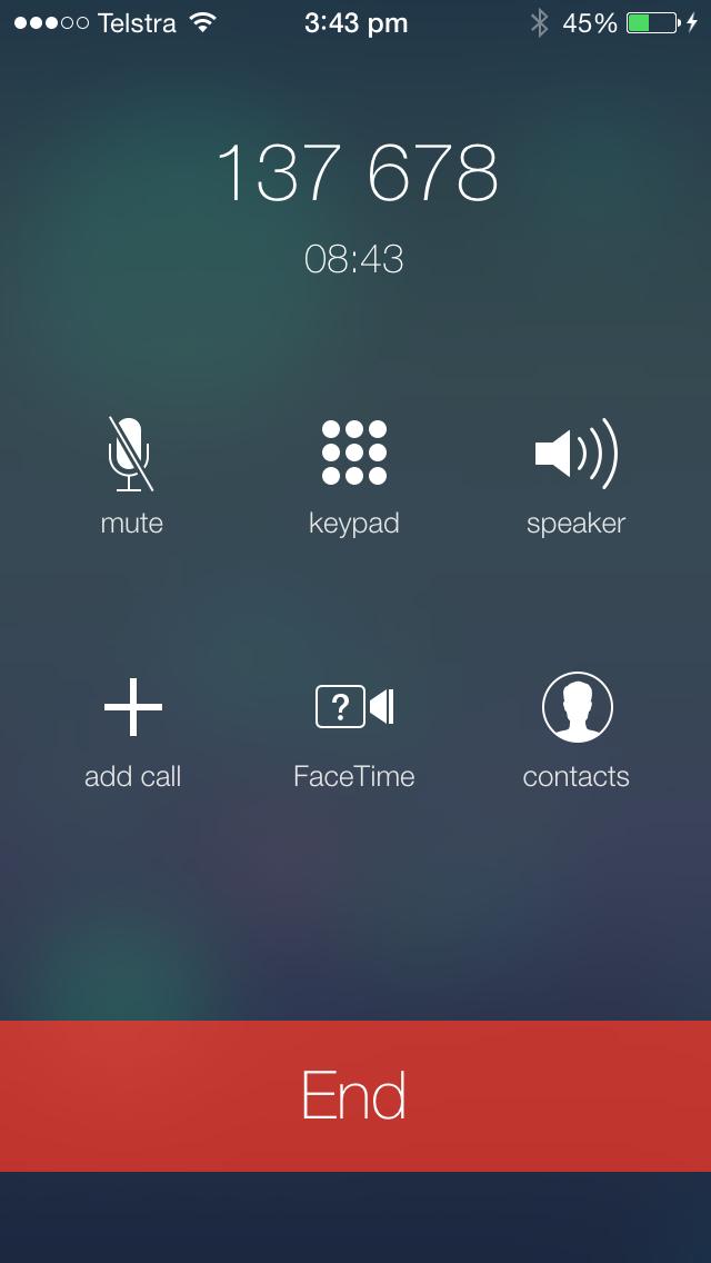 iOS 7 Call screen #apple #apple #ios #ios7 #iosbeta #iphone