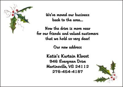 Business Invites With Holly For Holiday Parties  Business