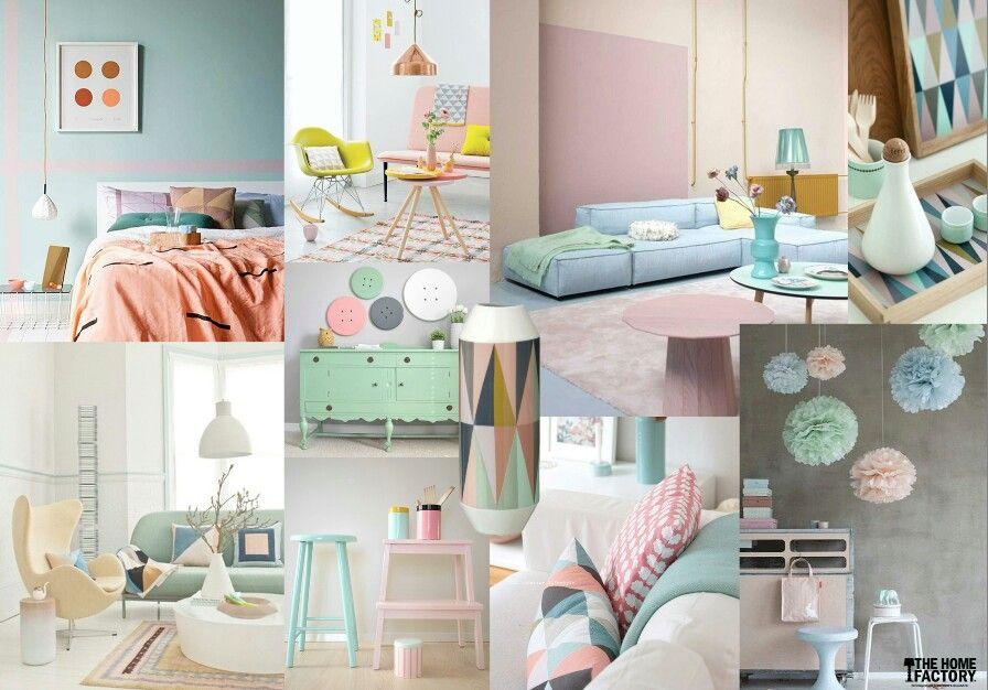 Kleurrijke Interieurs Pastel : Pastel home interieur pastel love the soft colours