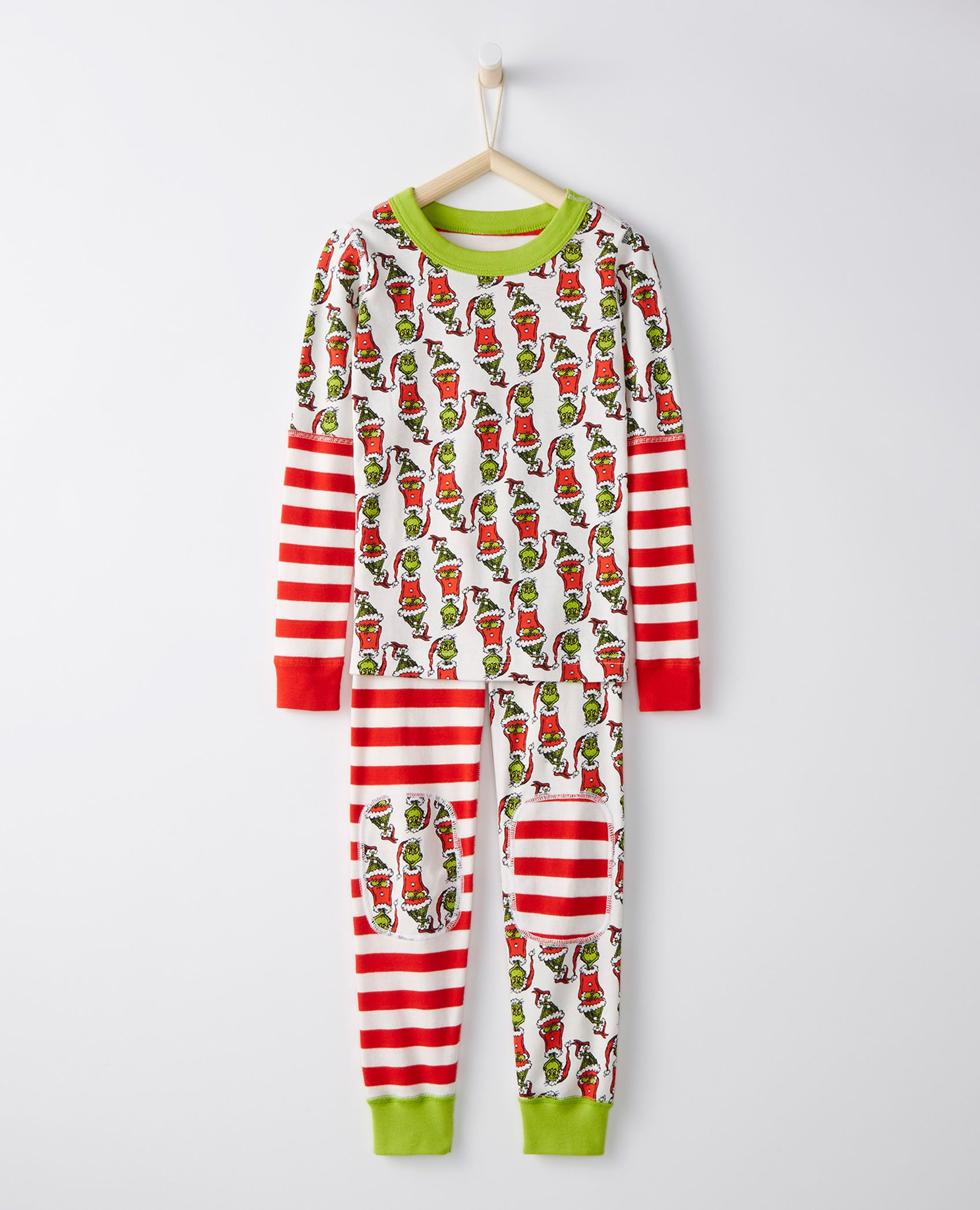 df74ccb05e Dr. Seuss Long John Pajamas In Organic Cotton in Grinch Mix It Up - main