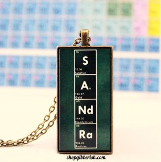 Periodic table necklace customizable personalized name jewelry chemistry name necklace science nerd periodic table of elements custom personalized gift idea urtaz Image collections