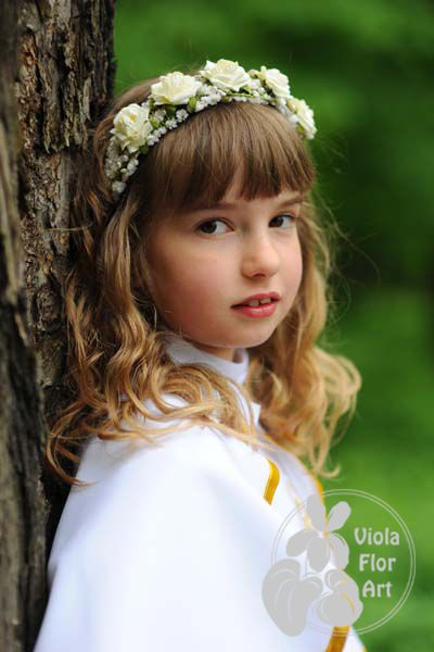 Wianuszki Z Kwiatow Sztucznych Viola Flor Art Flower Girl Flower Girl Dresses Girls Dresses
