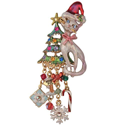 Santa Baby Christmas Cat Pin Enhancer