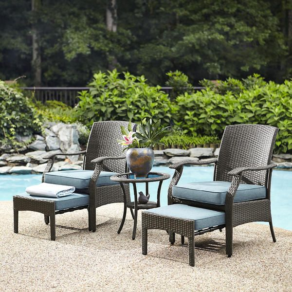 Garden Oasis Banks 5 Piece Seating Set Outdoor Furniture Wicker Patio Furniture Quality Outdoor Furniture