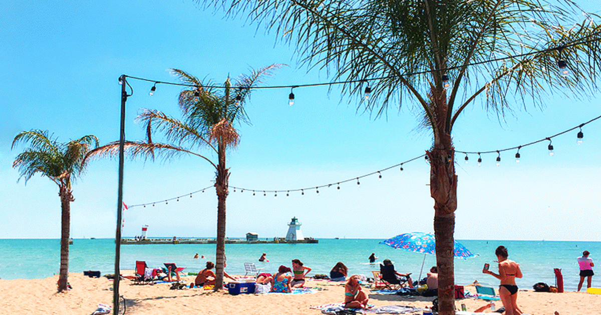Port Dover Beach is a popular spot along the coast of Lake ...