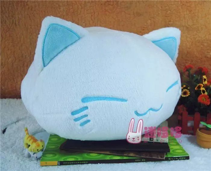 Nemu Neko Sleeping Cat Sleepy Cat Plush Plüschtier Stofftier 18*25 ...