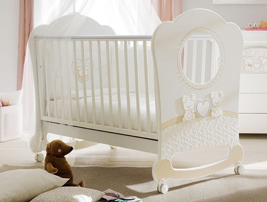 Neu: babybett babywiege zwei teddybären 64 x124 cm