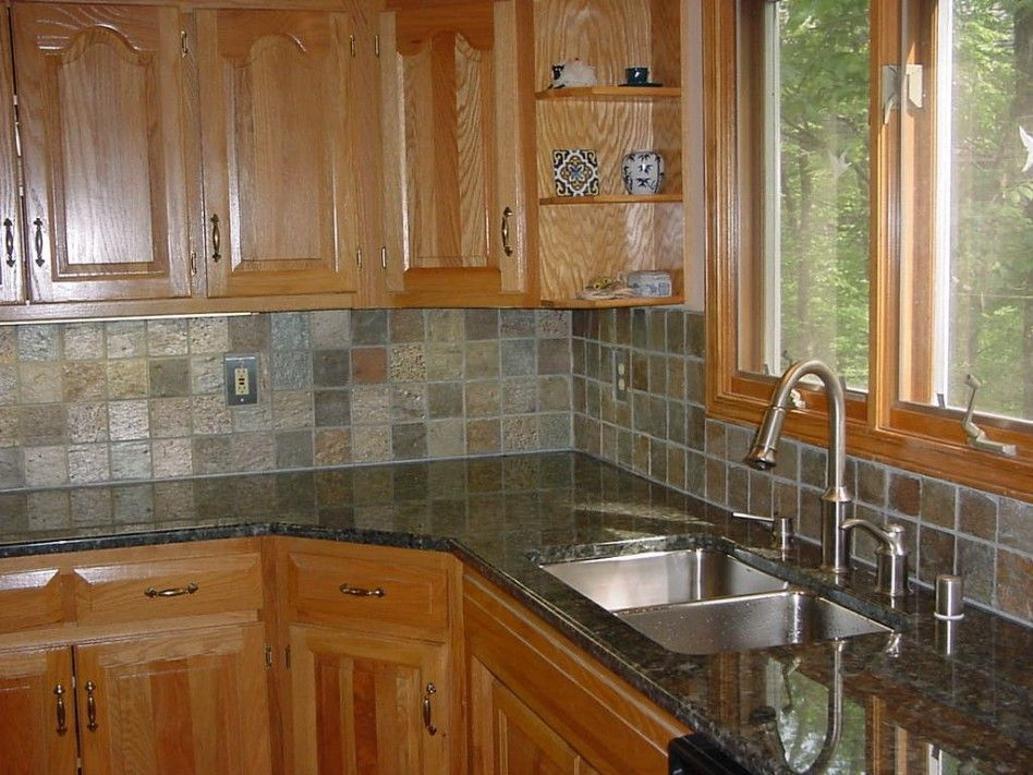 Ordinary Tiles Ideas For Kitchens Part - 12: Kitchen Designs, Nature Stone Resemble Ceramic Tiles Inexpensive Kitchen  Backsplash Design For Modern Cheap Kitchen Fabulously Chic Cheap Kitchen  Backsplash ...