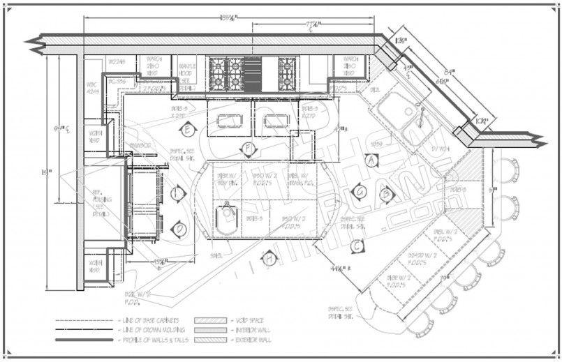 Kitchen, Kitchen Floor Plan Pic8: Making Efficient Kitchen Floor ...