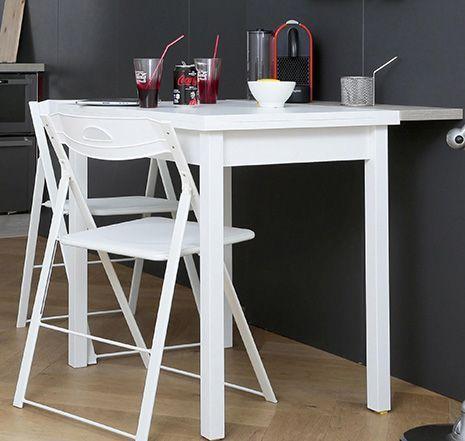 Table modulable capable de passer de 2 à 5 places en un claquement