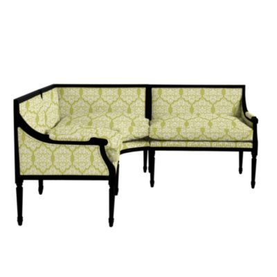 Banquette For Dining Room  This Is My Favorite Ballards Fabric