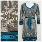 CUSTO Barcelona KNITWEAR Women Dress Sz L Metallic Silver Blue Multi V-Neck #Dress #Fashion #Woman #custobarcelona CUSTO Barcelona KNITWEAR Women Dress Sz L Metallic Silver Blue Multi V-Neck #Dress #Fashion #Woman #custobarcelona