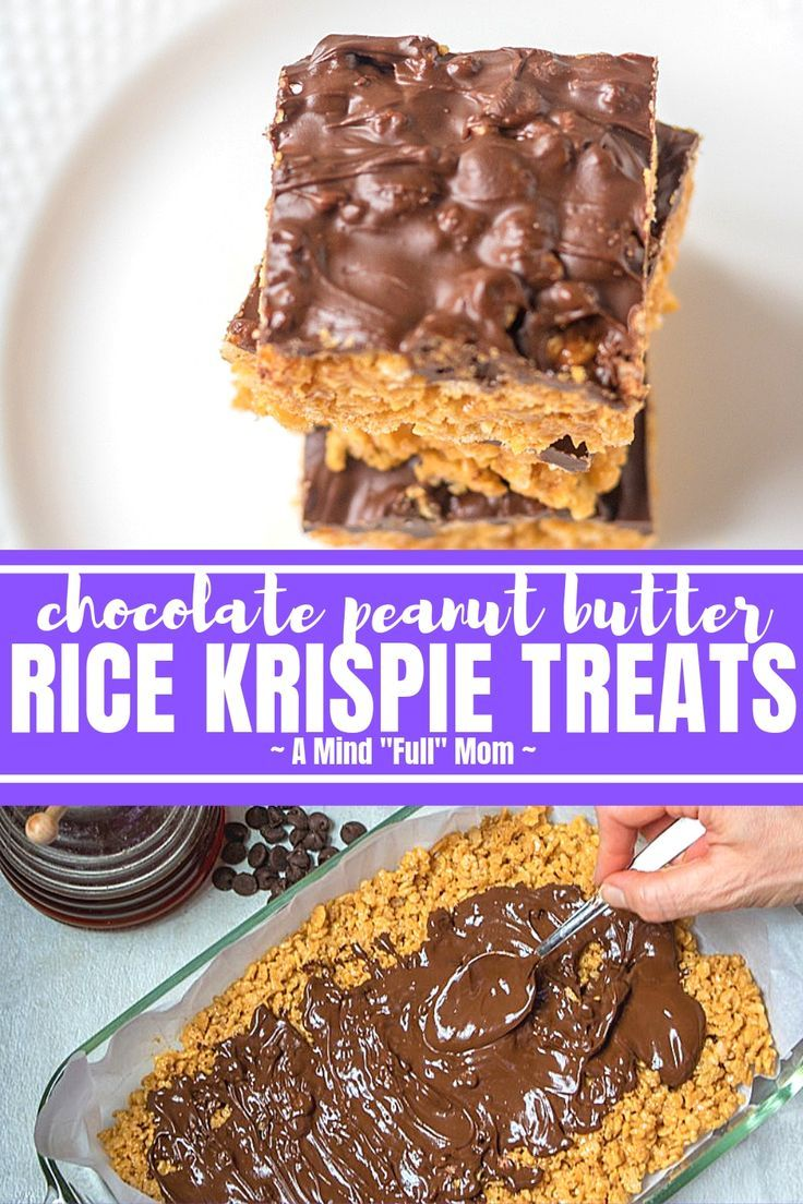 Peanut Butter Rice Krispie Treats Peanut Butter Rice Krispie Treats are sure to be a family favorite! This Peanut Butter Rice Krispie Bar Recipe is marshmallow-free made with brown cri...