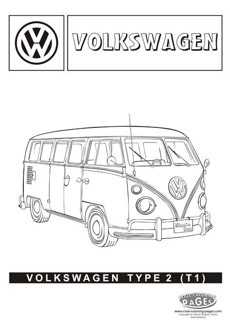 volkswagen type 2 hippie bus cars coloring pages. Black Bedroom Furniture Sets. Home Design Ideas