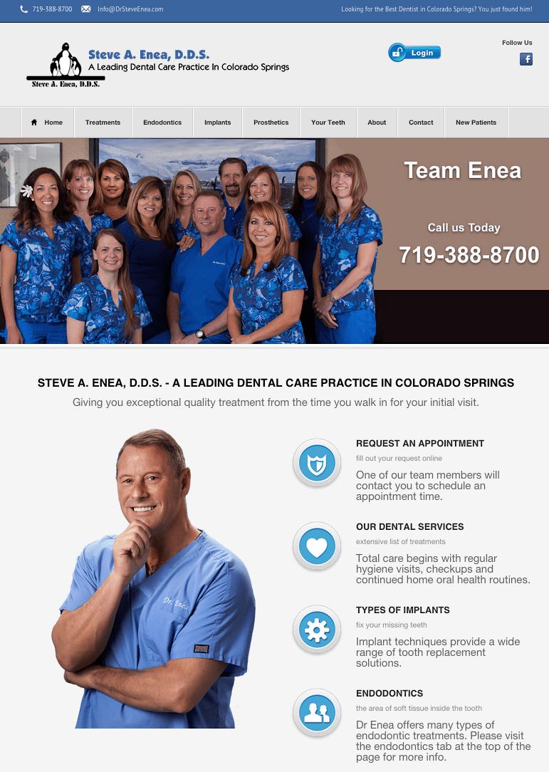 Dr. Steve A. Enea Best dentist, Mobile web design