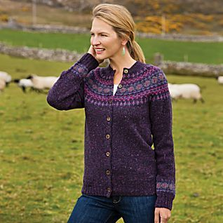 Heathered Fair Isle Cardigan | my kind of clothes | Pinterest ...