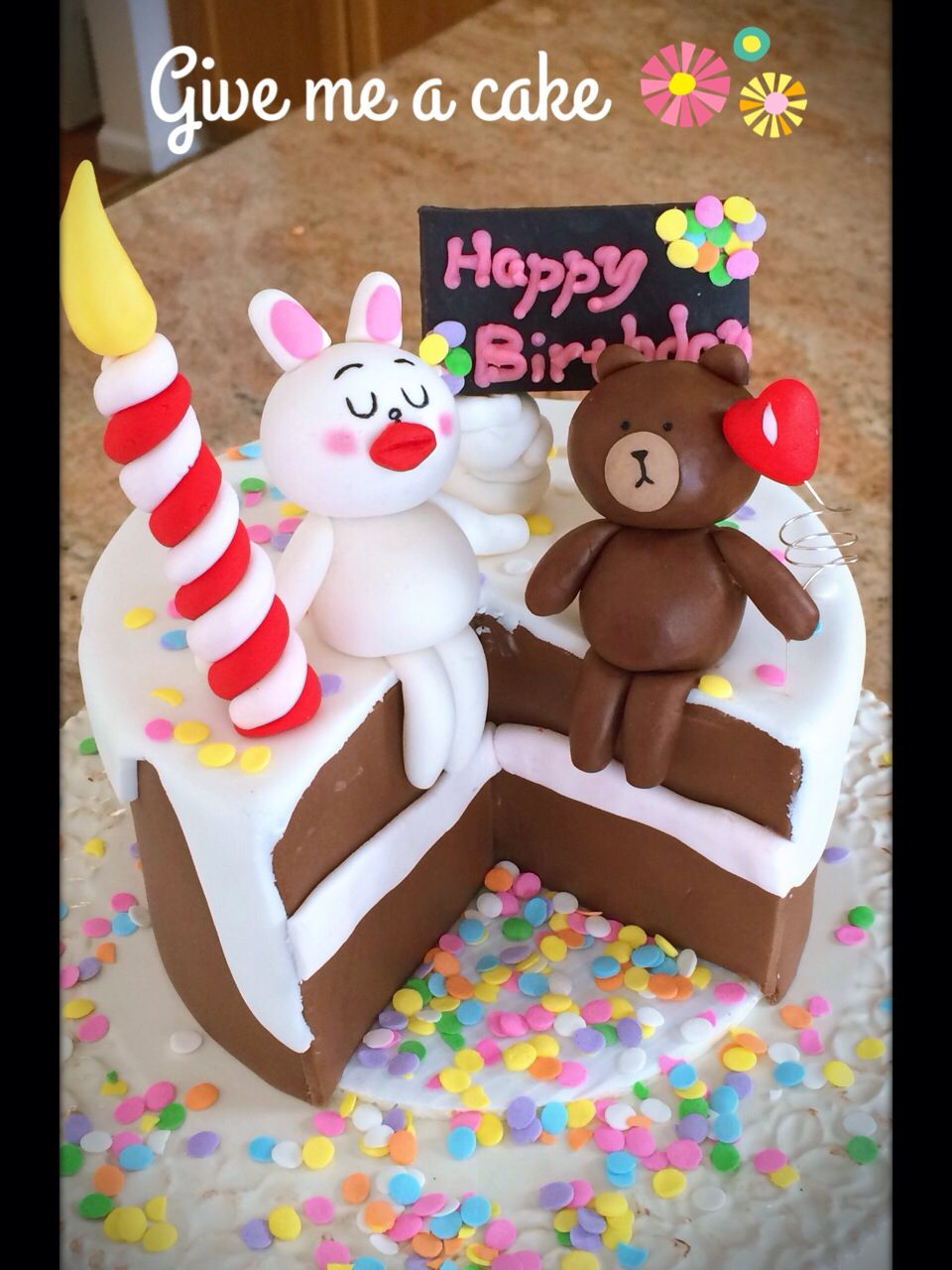 Line Camera Characters Birthday Cake Bunny And Bear From Give Me A Customized At Edison Nj Contact Email Sshennycgmail