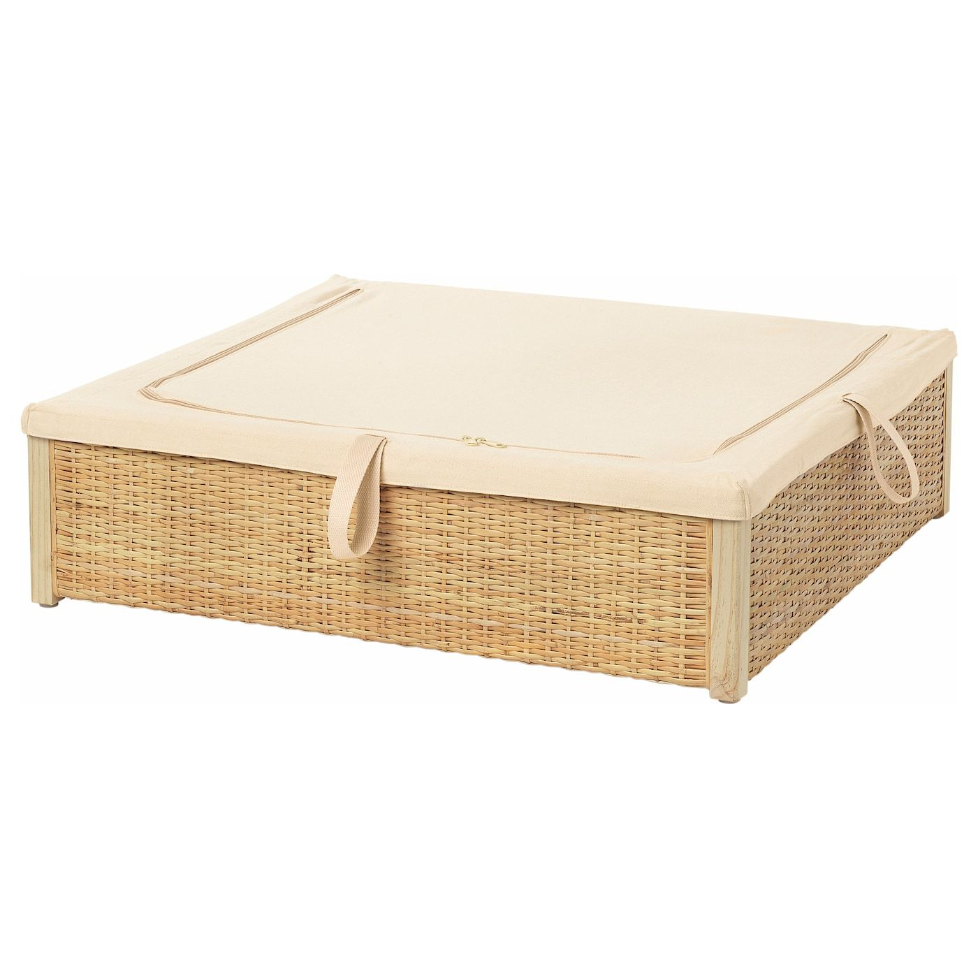 Romskog Bed Storage Box Rattan 65x70 Cm Ikea Ireland En 2020 Rangement En Dessous Du Lit Lit Rotin Lit Rangement