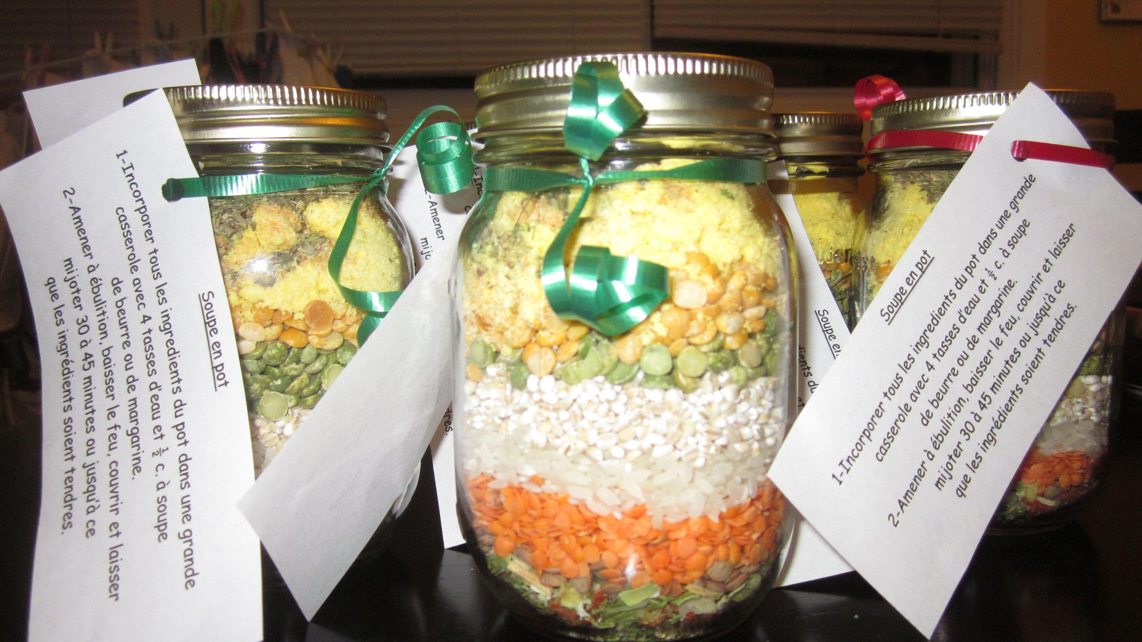 soupe en pot recette jar gifts cooking recipes et batch cooking. Black Bedroom Furniture Sets. Home Design Ideas