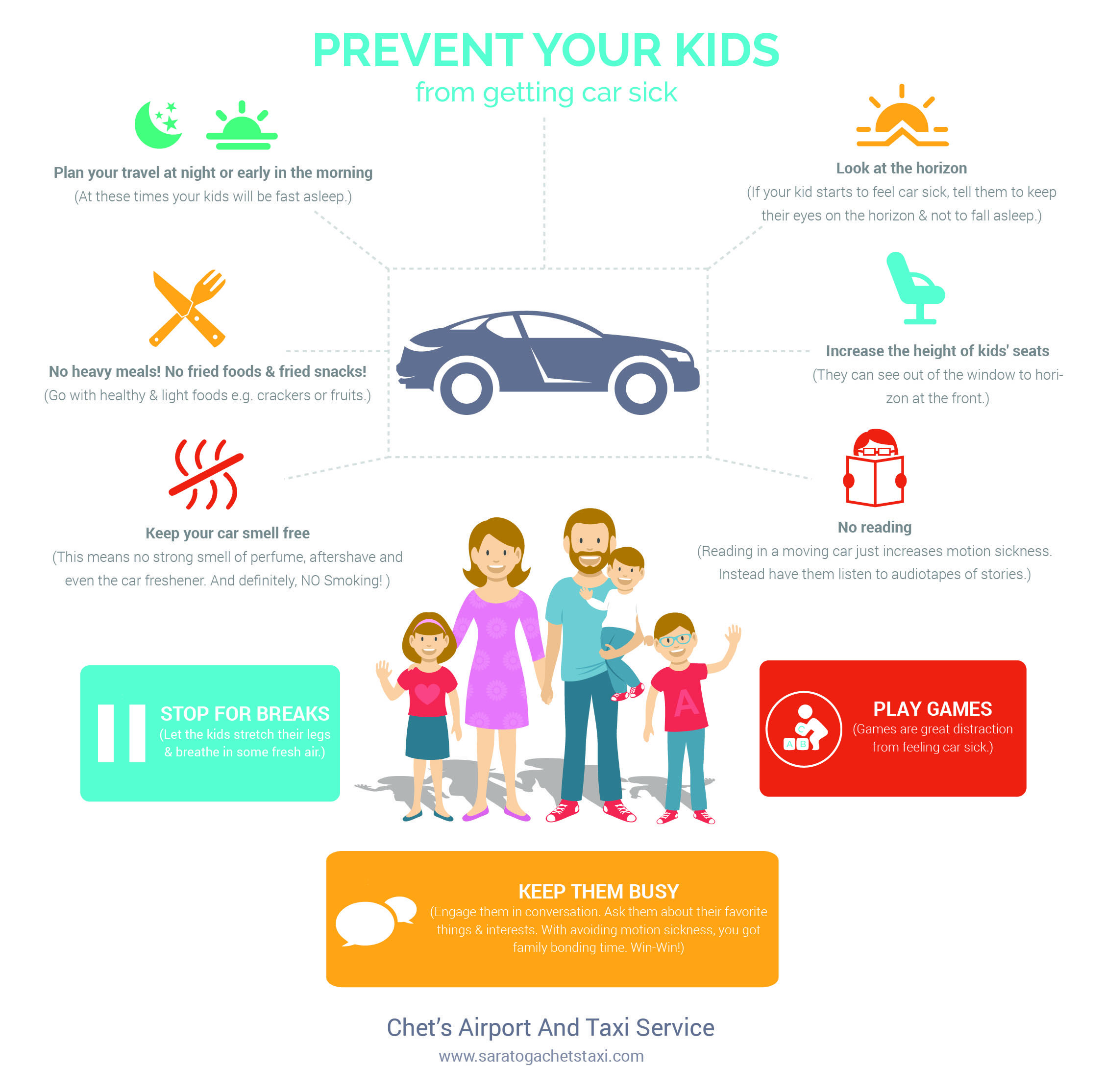 prevent your kids from getting car sick with the help of this