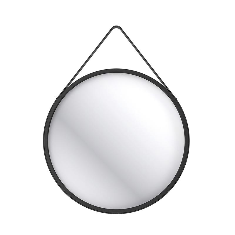 Home Design 60cm Round Hanging Mirror Black Round