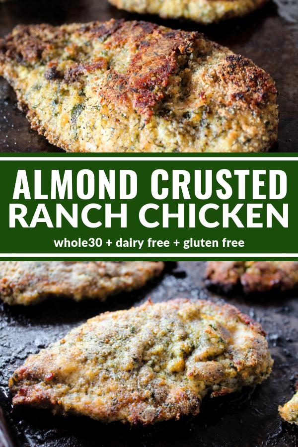 Almond Crusted Ranch Chicken Recipe Almond Chicken